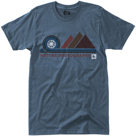Hippy Tree Aperture Camiseta Hombre, steel blue